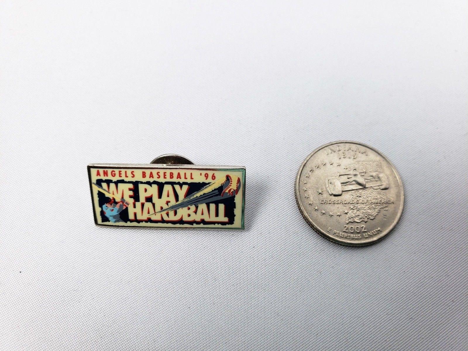 1996 Anaheim Los Angeles Angels We Play Hardball Pin Lapel Staff Exclusive MLB