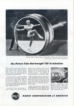 1953 RCA Kinescope picture tube research print ad - $10.00