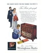 1947 Westinghouse One Sixty-Six Radio Phonograph print ad - $10.00