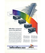 1945 Hallicrafters 4 Radio Equipment model spectrum print ad - $10.00