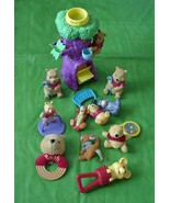 Lot of 10 Winnie The Pooh Toys Plush Rubber Rattle - $39.95