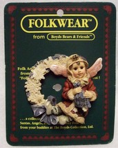 "Boyds FolkWear ""Kristabell w/Frosty Wreath"" Lapel Pin-#26309- New -1997- Retired - $8.99"