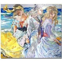 """Rita Asfour """"Three Best Friends"""" Serigraph S/N 25.5x32 - $151.99"""