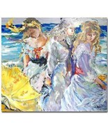 "Rita Asfour ""Three Best Friends"" Serigraph S/N 25.5x32 - $151.99"