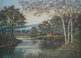 """Kathleen Cantin""""White Birches"""" AP etching Stunning $1200 retail! Birch t... - $318.93"""