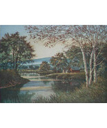 "Kathleen Cantin""White Birches"" AP etching Stunning $1200 retail! Birch t... - $318.93"