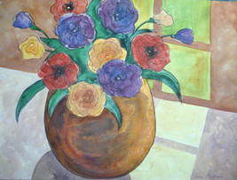 Penelope Bushman Original Floral In the Window @ Cost! - $48.99