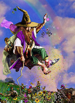 "Tom Cross "" Spring Forth "" Fantasy Fairy of Magic! S/N Rainbow & Gold - $49.99"