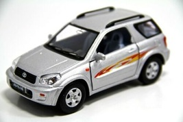 "New 5"" Toyota Rav4 Diecast Model Toy SUV 1:32 Silver - tkrm - $24.95"