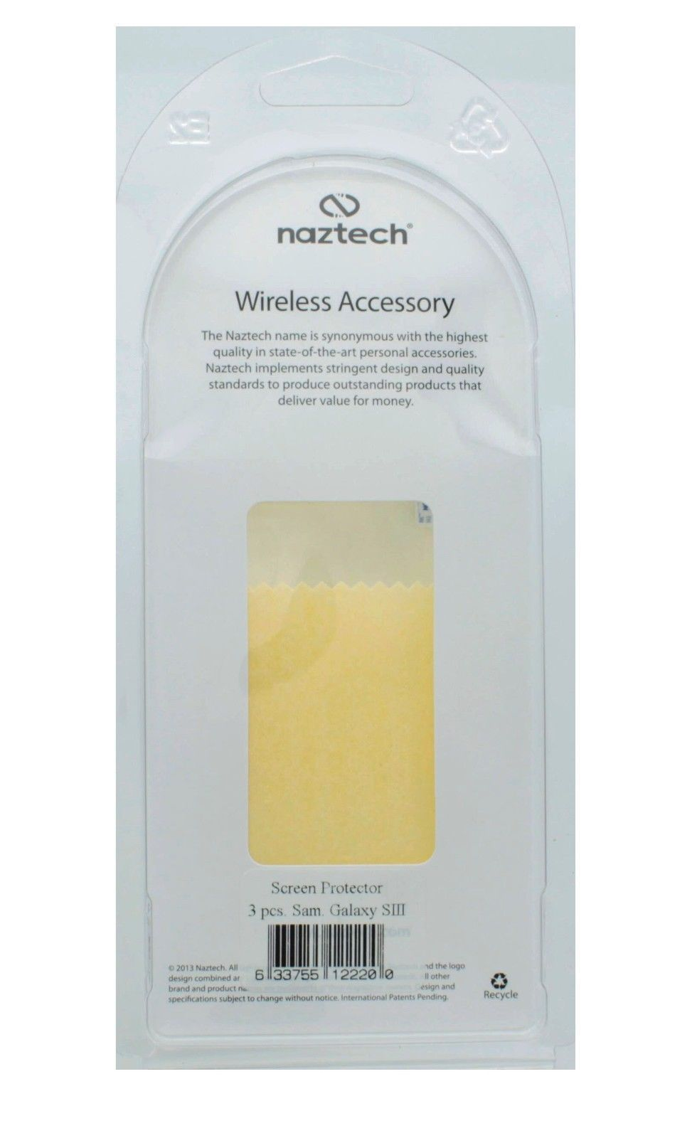Naztech Screen Protector 3-Pack for Samsung Galaxy SIII
