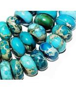 8mm variscite sediment abacus turquoise loose bead - $8.99