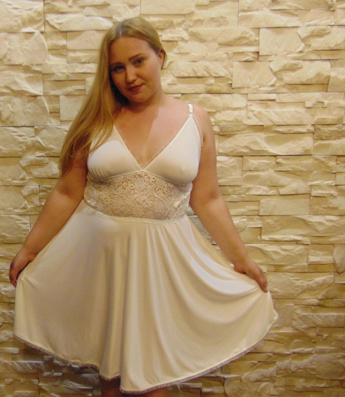 7e5ee584a24 bridal night lingerie Nightwear Chemise plus curvY queen size L XL 2XL 3XL  4XL