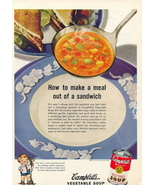 1944 Campbell's Tomato, Beef & Asparagus Soup print ad - $10.00
