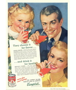 1942 Campbell's Tomato Juice full page vintage print ad - $10.00
