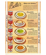 1946 magazine print ad for 5 different kinds of Campbell's S - $10.00