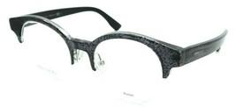 Jimmy Choo Rx Eyeglasses Frames JC 151 RBY 47-20-140 Black Glitter Made in Italy - $78.79