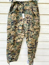 Genuine Usmc Gen II Apecs Gore Tex Digital Marpat Cold Weather Pants - L... - $163.35