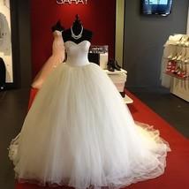 Ball Gown Tulle Wedding Dress Strapless Floor Length Women Vestido de Novia - $229.99