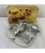 Sun San Saltwater Sandals Silver Sweetheart Baby Toddler Size 6 New in Box - $39.57