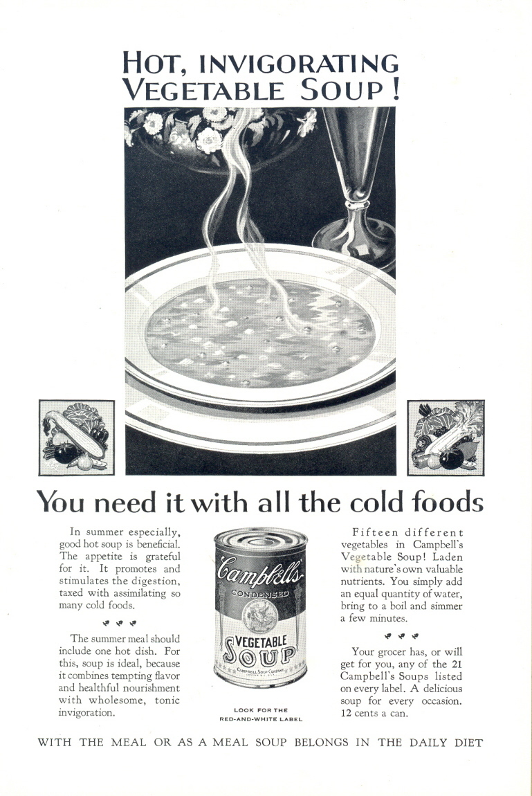 1937 Campbell's Vegetable Soup Classic Vintage print ad