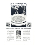 1937 Campbell's Vegetable Soup Classic Vintage print ad - $10.00