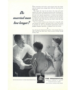 1947 Predential Insurance dad drying up children print ad - $10.00