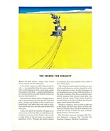 1935 Travelers Insurance Wagons Search for Security print ad - $10.00