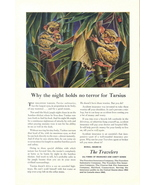 1949 Travelers Insurance tarsius bamboo tree print ad - $10.00