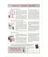 1950 Metropolitan Life Insurance Human Heart facts print ad - $10.00