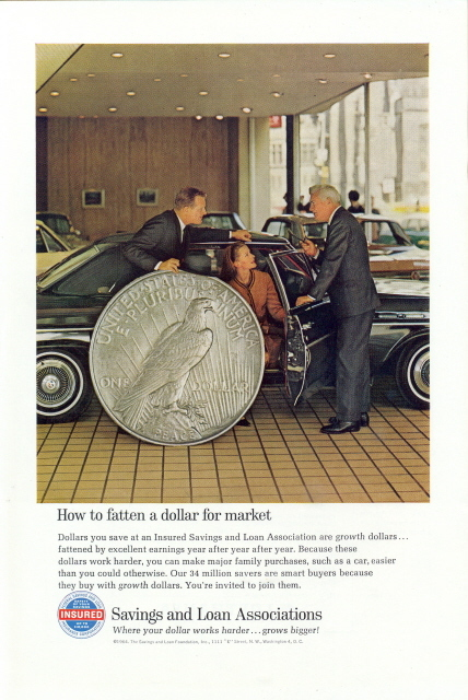 1964 Federal Saving & Loan Insurance Co. giant coin print ad