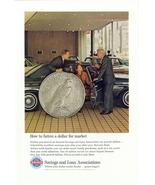 1964 Federal Saving & Loan Insurance Co. giant coin print ad - $10.00