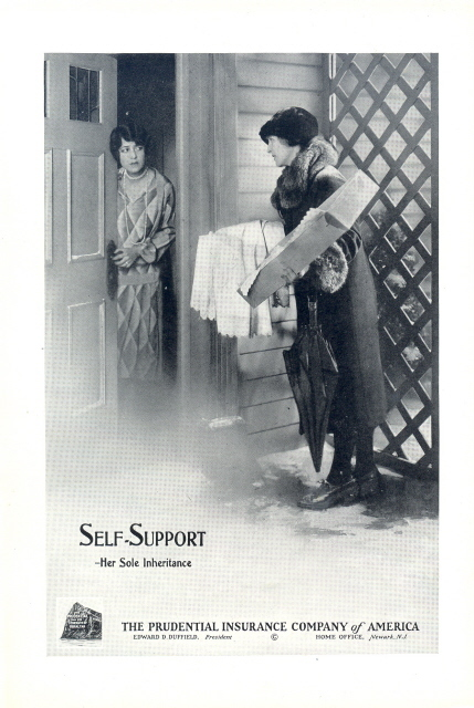 1948 Prudential Insurance Self Support self help print ad