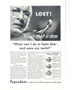 1937 Pepsodent Film-Removing Toothpaste print ad - $10.00