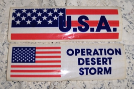 Operation Desert Storm Bumper Stickers set of 2 - $1.99