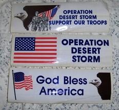 Operation Desert Storm Bumper Sticker set of 3 - $4.25