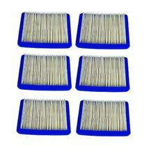6 PK AIR FILTER FITS BRIGGS & STRATTON, JOHN DEERE, CRAFTSMAN, SEARS, TORO +MORE - $16.80