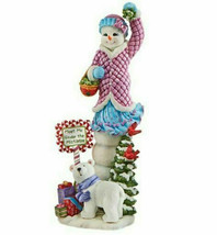 "Lenox Snowy Sweetheart 2017 Snowman Figurine 12.5"" H New - $64.90"