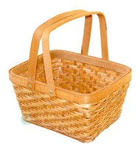 New Vintiquewise Rectangular Wood-chip Picnic Basket with Drop Handles,Q... - $14.99