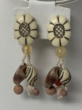 Vintage Dangle Clip On Earrings  - $11.65