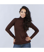 Chic Trendy Harve Benard Ladies Designer Solid Turtleneck, Button Cuffs S-L - $29.39