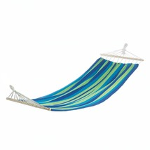 Portable Blue Hammock Bed For Patio, Hanging Hammock Bed Cotton - £31.87 GBP