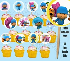 Pocoyo Double-Sided Cupcake Picks Cake Toppers -12PCS - $13.56