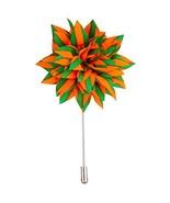 Knighthood Men's Avaron Projekt Handmade Orange and Green Striped Flower... - $12.14