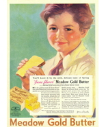 1937 June Flavor vintage Meadow Gold Butter print ad - $10.00