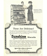 1943 Sunshine Biscuits Salesman & disply rack print ad - $10.00
