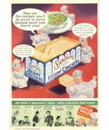 1936 Sunshine Krispy Crackers Cartoon Chef print ad - $10.00