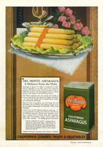 1947 Del Monte California Asparagus Can Food print ad - $10.00