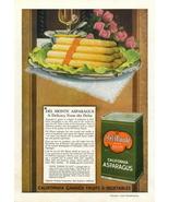 1947 Del Monte California Asparagus Can Food print ad - $10.00