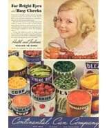1941 Continental Can Company Canned Food print ad - $10.00