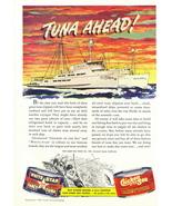 1945 White Star Chicken of the Sea Tuna Ships print ad - $10.00